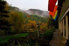The lodge at Easton Mountain in autumn. Harvest Gay Spirit Camp is November 1-3, 2013! http://eastonmountain.org/harvest-gay-spirit-camp/