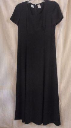 LIZ CLAIBORNE DRESSES Empire Waist Ankle Length Black Dress Size 6: Polyester…