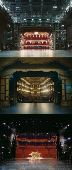 The Fourth Wall: A Rare View of Famous European Theater Auditoriums Photographed from the Stage - friederike - Theatre Stage, Theatre Nerds, Music Theater, The Theater, Stages Theater, Theatre Design, Stage Design, Set Design, Gekkan Shoujo