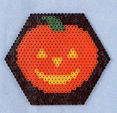 Halloween pumpkin hama perler pattern