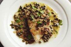 Healthy and delicious Grouper with Lemon Caper Butter Recipe Grouper Recipes, Fish Recipes, Seafood Recipes, Cooking Recipes, Healthy Recipes, Fish Dishes, Seafood Dishes, Fish And Seafood, Amazing