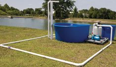 An overall shot of the test system at the AES facilities in Apopka, FL