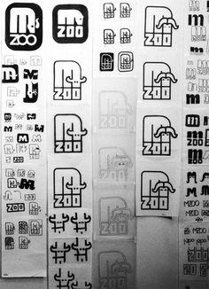 Minnesota Zoo logo sketches by Lance Wyman