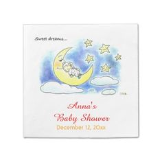 Shop sweet dreams cute sleeping baby baby shower paper napkins created by jsoh. Baby Sleep, Baby Baby, Baby Shower Napkins, Ecru Color, Cocktail Napkins, Paper Napkins, Sweet Dreams, Cocktails, Cute