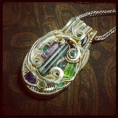 ©Andrew Vadnais #wirewrap #jewelry #wirewrapjewelry