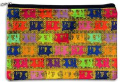 Vibrant Taxis Collage Utility Pouch Size: 11 x 7 Inches  Material: Canvas