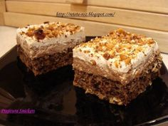 Prajitura Snickers Pudding Cookies, Cake Cookies, No Bake Chocolate Cake, Delicious Desserts, Dessert Recipes, Cookie Pizza, Romanian Food, Bread Cake, Pastry Cake