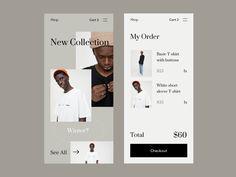 Shop App UI designed by Giga Tamarashvili. Connect with them on Dribbble; Mobile Ui Design, App Ui Design, Web Design, Graphic Design, Zara App, App Map, Ui Color, Learning Apps, App Design Inspiration