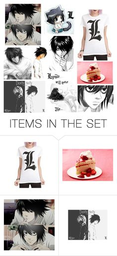 """""""L"""" by erinne1 ❤ liked on Polyvore featuring art and deathnote"""