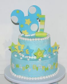 Mickey Mouse 1st Birthday Cake ~ NutMeg Confections