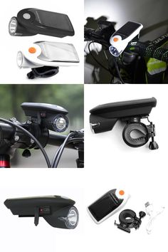 [Visit to Buy] Solar Energy Rechargeable USB Bike Bicycle Lights Flashing Front Head Flashlight Cycling Bicycle LED Warning Lamp Sport Lighting #Advertisement