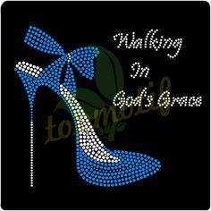 Rhinestone Motif High-heeled Shoes Transfers Custom Strass Design