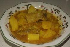 Receta de Estofado de patatas con costillas de cerdo