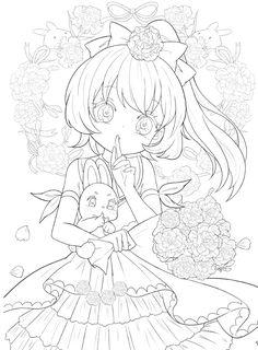 Chibi Coloring Pages, Manga Coloring Book, Cute Coloring Pages, Coloring Books, Anime Drawings Sketches, Anime Sketch, Kawaii Drawings, Ranma Y Shampoo, Lineart Anime