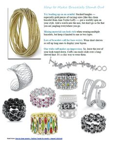 How to make bracelets stand out