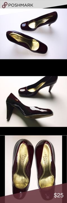 Franco Sarto Size 6.5 Burgundy Heels These are a pair of burgundy pumps from Franco Sarto. Size 6.5. Good condition. Some wear on insides and very back of heel. These are super comfortable and great if you need to walk in heels for long periods of time. Franco Sarto Shoes Heels