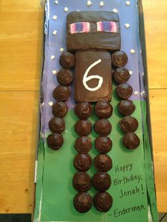 Minecraft Enderman cake
