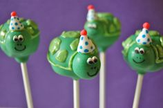 Cuter Than Cake has the most creative cake pops.  Check 'em out!