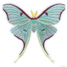 Mint Lunar Moth Iron on Patch