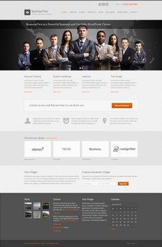 BusinessTwo, $36-50, Blog, Business, Portfolio, Sidebar, wordpress themes