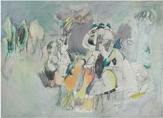 "Arshile Gorky, ""The Pirate I"" (1944) #abstract #expressionism #art"