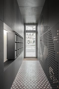 Loios - Picture gallery Lobby Design, Hall Design, Lobby Interior, Interior Exterior, Interior Architecture, Apartment Mailboxes, Mail Room, Apartment Entrance, Appartement Design