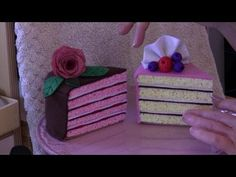 ▶ How to make a felt cake tutorial with Lisa Pay - includes FREE pattern - YouTube