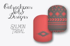 Salmon Tribal Custom Jamberry NAS Design