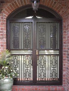 Security screen doors for double entry patio arcadia or for Double storm doors for french doors