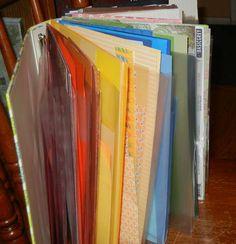 Fantastic idea for storing my scrabook scraps of paper!!