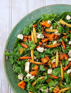 Christmas recipe: Roast butternut and baby corn salad. Great for feeding a crowd! #vegetarian #salads