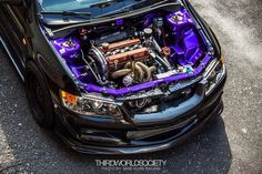 Mitsubishi Evo ❤️ Purple bay!