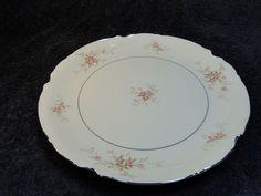 $12.99 Mikasa Fine China Versailles 9344 Pink Roses 12 in Round Platter  #Mikasa
