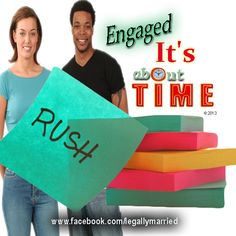 """""""It's About Time"""" - Engagement or Proposal of Marriage Vows written by Dr. Linda, A Celebrity Officiator - www.facebook.com/legallymarried"""
