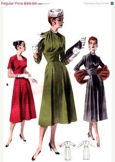 Sale UNCUT Vintage 1950s Butterick Pattern 7813