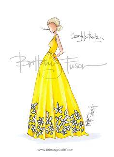 Brittany Fuson // Oscar #odlr #fashion #illustration