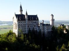 Neuschwanstein Castle, a royal palace in the Bavarian Alps of Germany