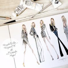 Sketches Inspired by Resort Collections. Shown here @RachelZoe by Brooke Hagel @brooklit
