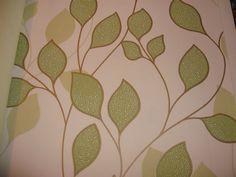 Luxury Design Wallpaper (Off White/Green Leaf - Paste The Wall) Wallpaper Off White, Designer Wallpaper, Pattern Wallpaper, Green Leaves, Past, Quilts, Blanket, Luxury, Ebay