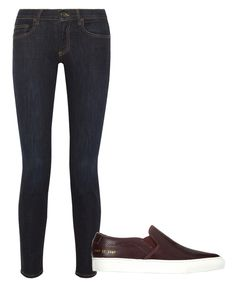 FOR A CASUAL WEEKEND LOOK: SKINNY JEANS & SLIP-ON SNEAKERS #InStyle