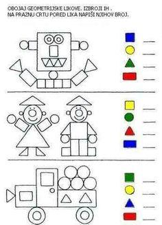 Shapes Worksheets, Kindergarten Math Worksheets, Maths, Number Worksheets, Tracing Worksheets, Alphabet Worksheets, Preschool Writing, Preschool Learning Activities, Shape Activities