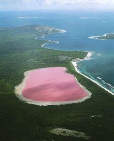 Vaaleanpunainen Hillier-järvi sijaitsee saarella Australian länsipuolella. Syytä järven väriin tutkitaan edelleen. Väri on pysyvää eli jos vettä ottaa juomapulloon, se on silti vaaleanpunaista.