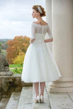 Tea Length Bridal and 50's Style Short Wedding Dresses   Brighton Belle…