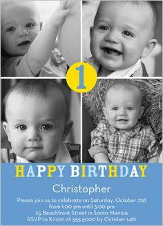 Number One Boy Birthday Invitation