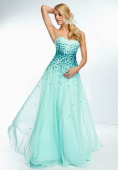 Mori Lee Prom Dress 2014 95030 at Peaches Boutique  4 colors available, I like this one - Mint