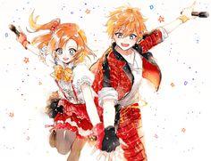 Love live x ensembles stars Honaka and Subaru