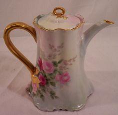 vintage haviland | Vintage Haviland Limoges Tea Set Decorated with Hand Painted Roses