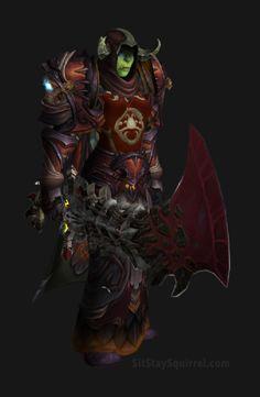 Unholy Death Knight Apocalypse Transmog Set - Herald of Pestilence Skin with Red Tint Transmog. WoW Legion.