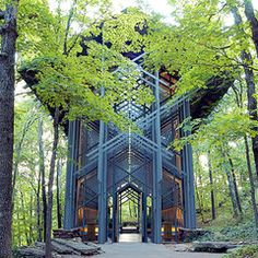 Help Save Thorncrown Chapel! Designed by Frank Lloyd Wrights apprentice, E. Fay Jones, this beautiful building sits in the middle of an Arkansas woodland. Built from local pine and rocks that were carried through the woods, its known as a classic example of organic architecture, and has also been noted as one of the best American buildings of the 20th century. A local utility now wants to build a transmission line through the area- sign this petition to ask them to help keep the woods…