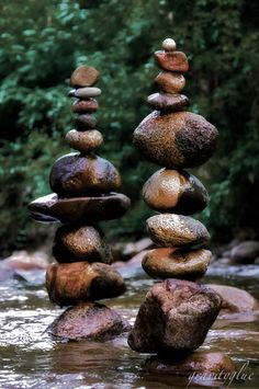 @: Stacked rocks are called, in certain realms, Karins.  Used for intentions and prayers.  I am drawn to them...
